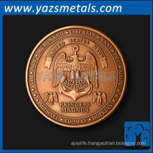 custom coins, customize high quality retirement coin in copper